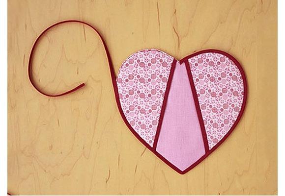 آموزش دوخت دستگیره قلبی 3 تیکه